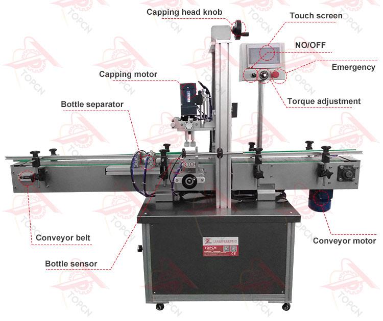 Automatic Screw Sprays Glass Bottle Capping Machine