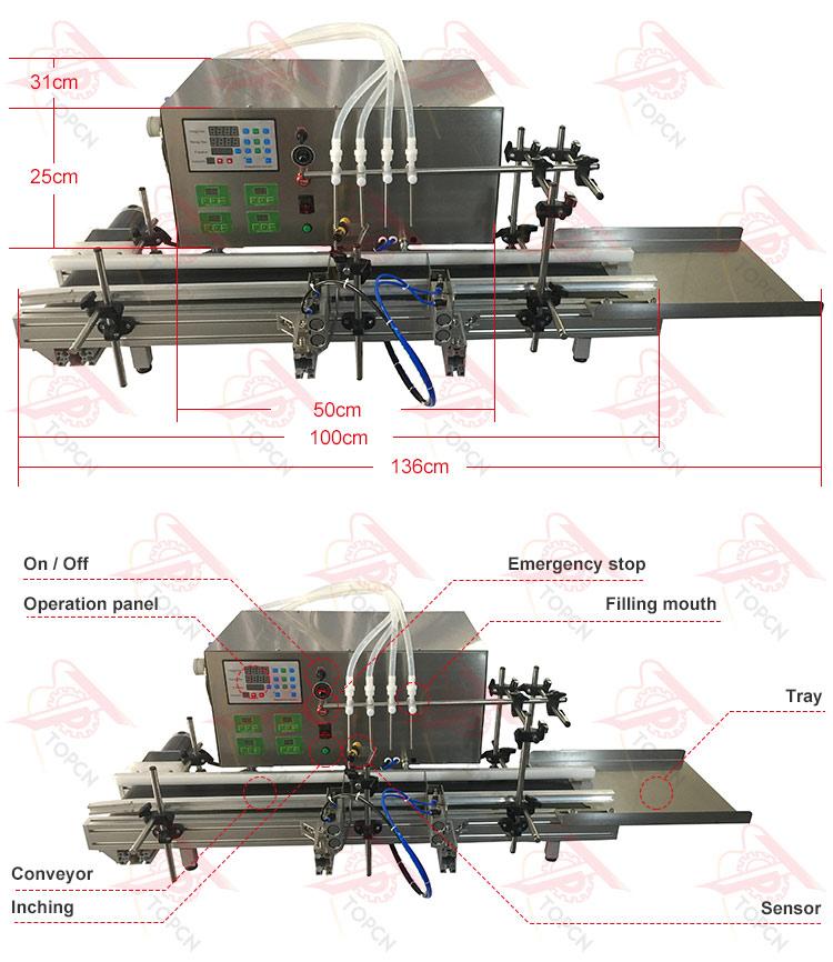 Automatic Peristaltic Pump Liquid Oil Filling Machine