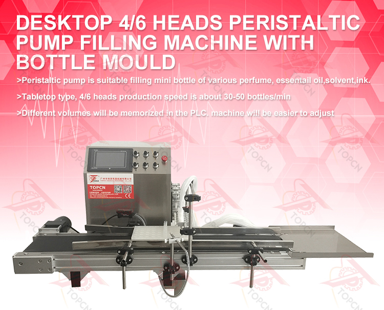 TAFM-609 Automatic peristaltic pump filling machine with bottle mould tray