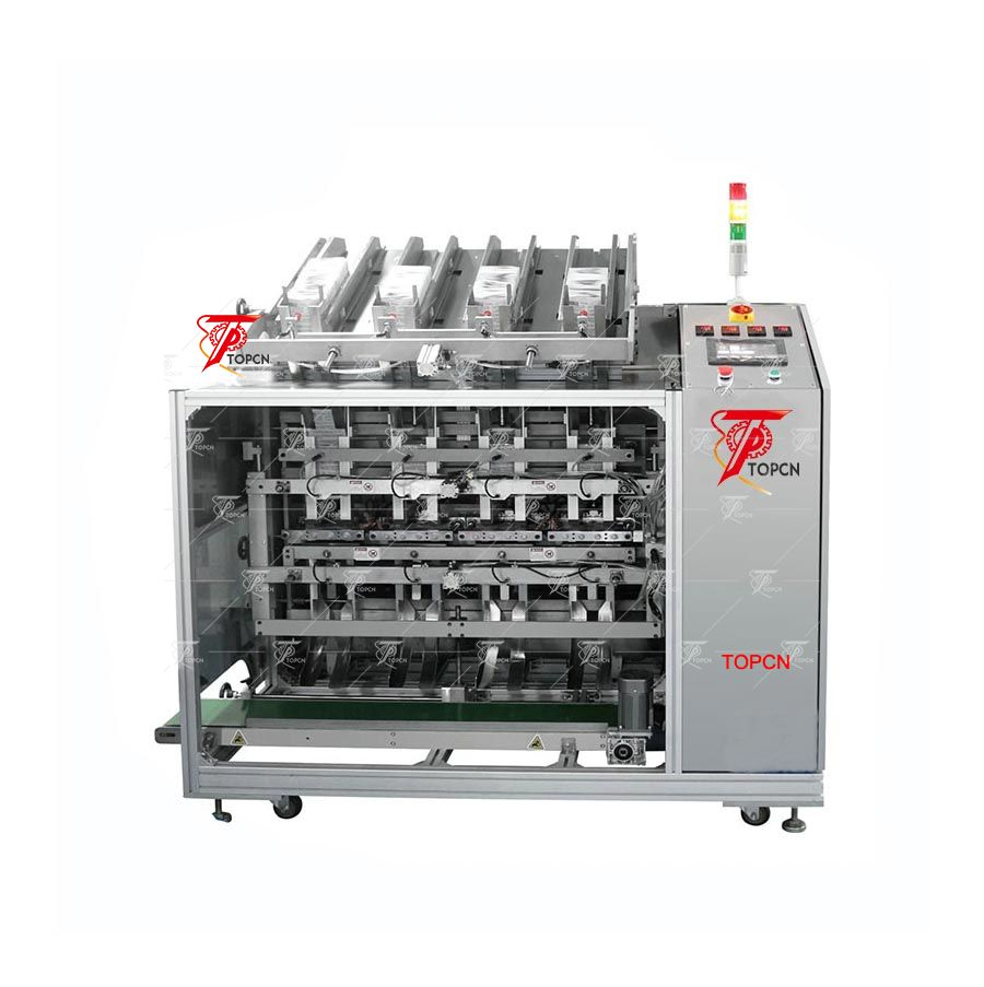 Bag Automatic Dropping-Automatic Filling-Automaitc Sealing-Automatic Printing-Finished(2 heads,4 heads and 6 heads)
