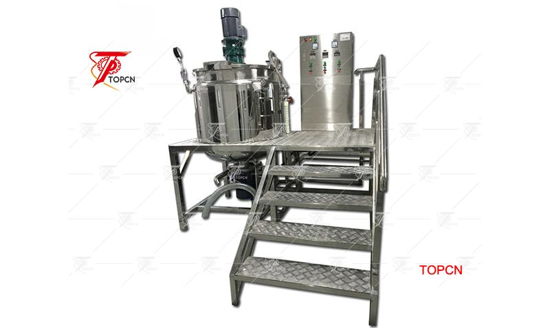 Top Open 500L Homogeneous Liquid Soap Making Mixing Machine with Heating And Mixing Plateform
