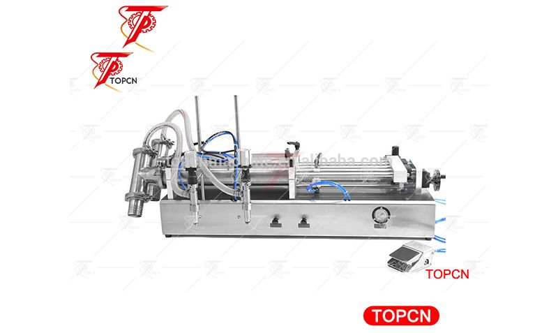 Manufacturer china two heads pneumatic semi automatic mineral water liquid filling machine