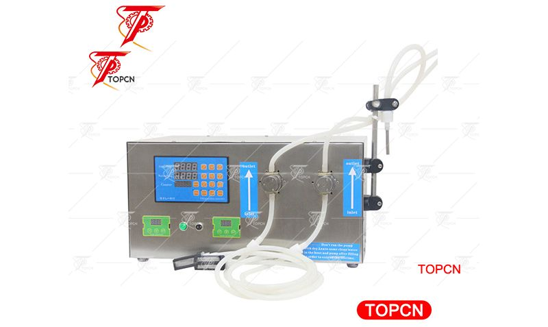 Magnetic Pump acetone filling machine, Disinfection water wine filler automatic ink filling machine with 2 nozzles 2Lmin