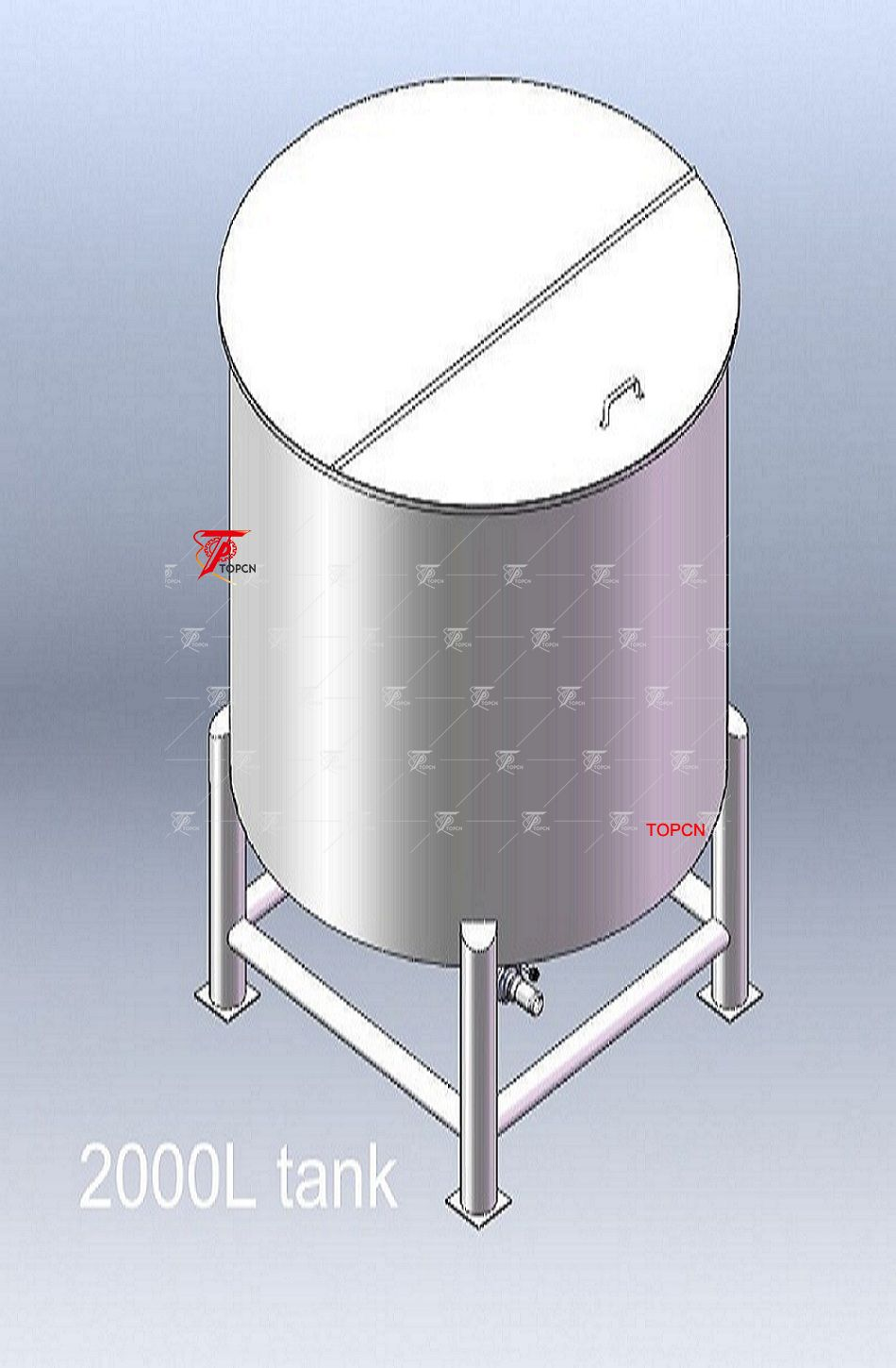 Single Layer Stainless Steel Tank Top Open Water Storage