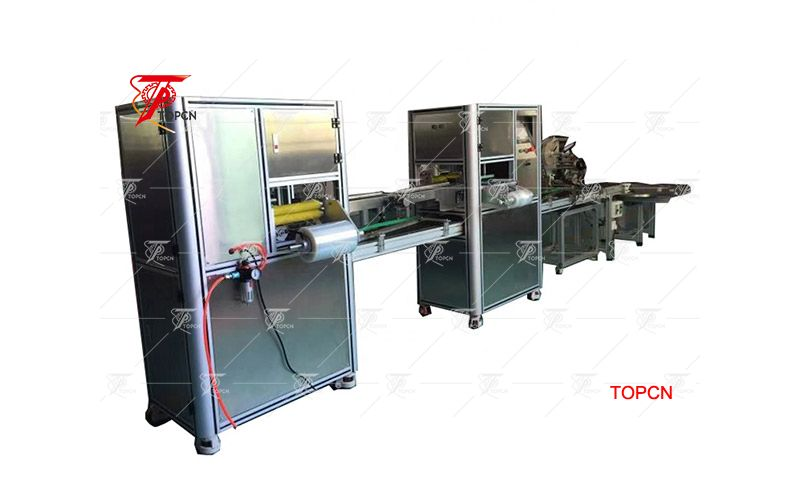 High workpiece ratio high productivity two connection soap wrapping machine for various shape soap