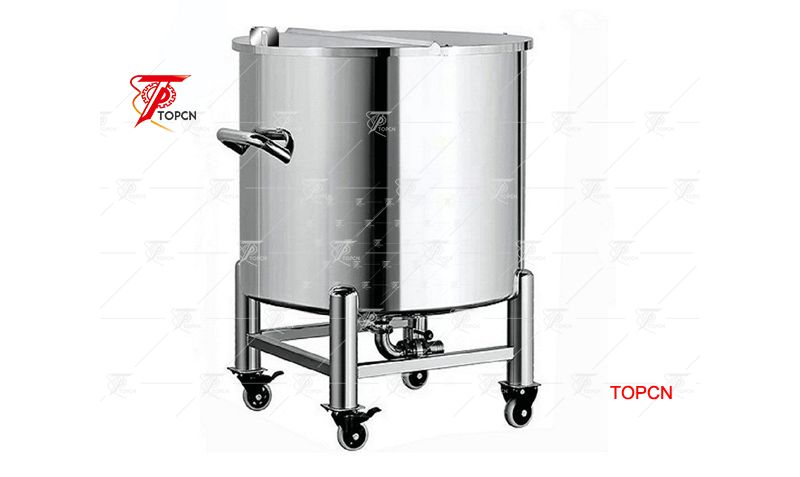 single-layer stainless steel container top open water storage tank