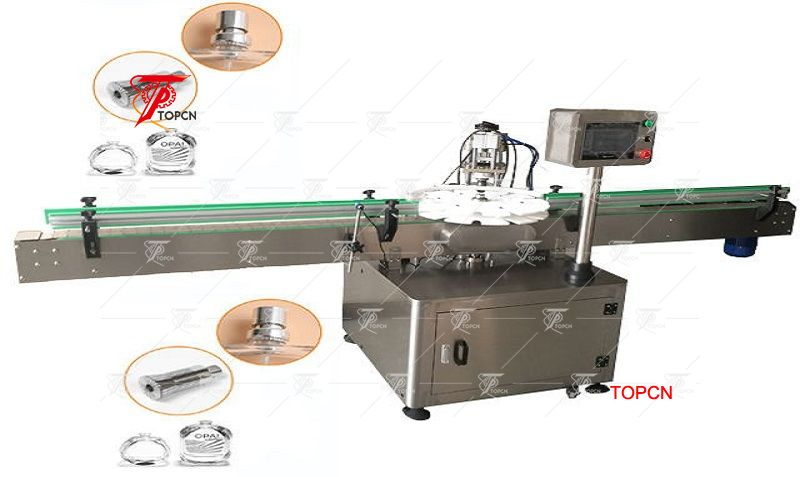 Automatic rotary type perfume crimp equipment  glass bottles perfume crimping machine