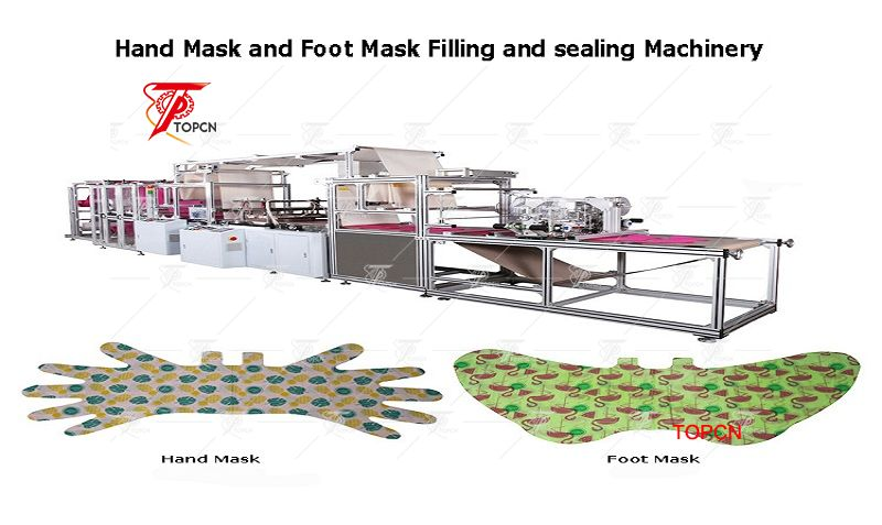 automaitc cosmetic hand foot mask making machine factory