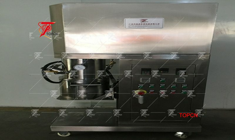 Nigeria Customer ordered 5L High Shear Double Shaft Vacuum Industrial Chemical Mixer