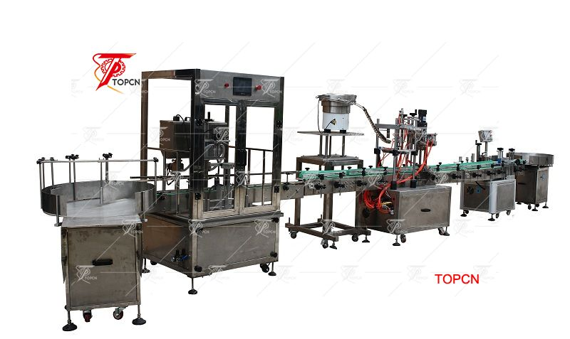 Automatic Spray Bottle Filling Capping and Labeling Machine