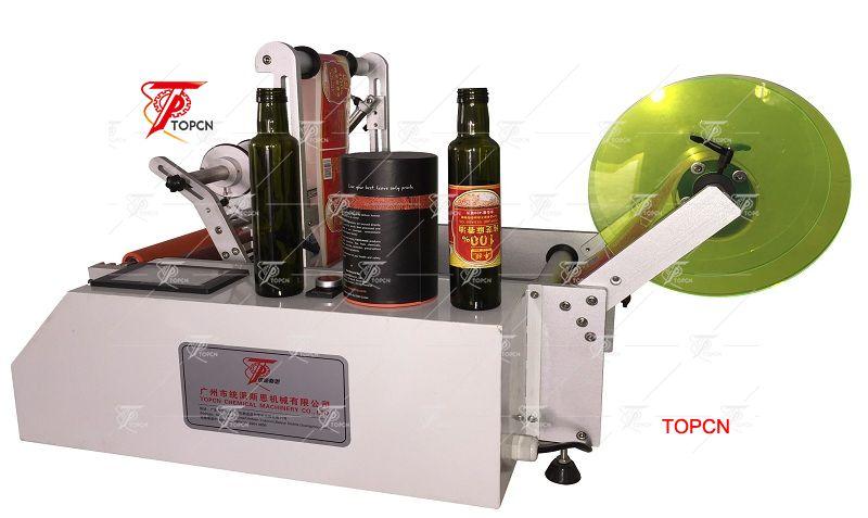 Semi automaitc used wine bottle labeling machine for sale