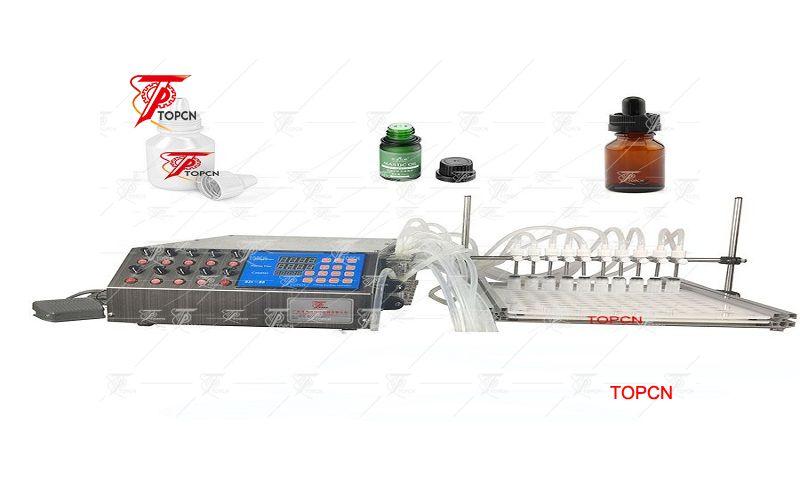 10 heads peristaltic pump small scale portable bottle liquid filling machine