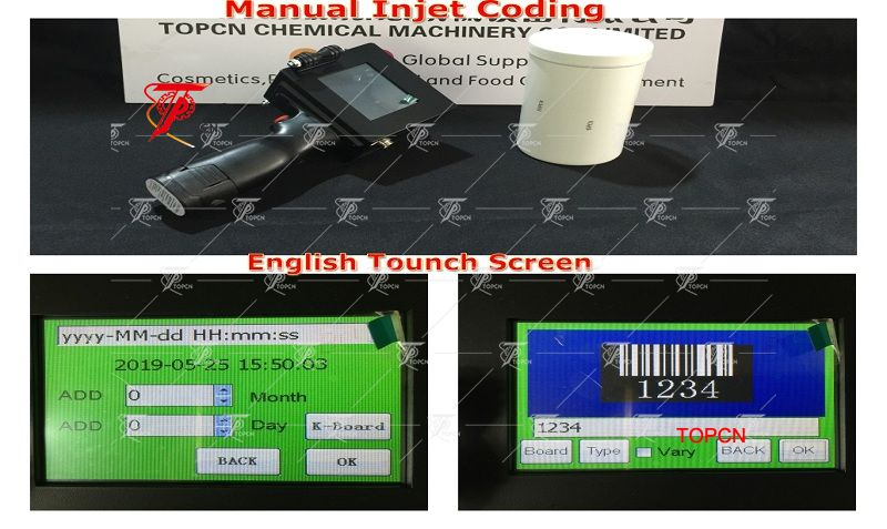 Handheld egg date coder inkjet bar code machine