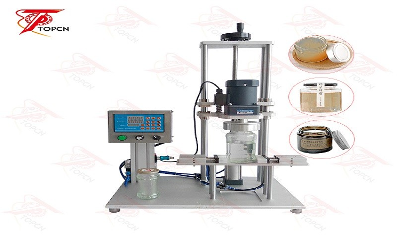 Pneumatic Desktop Cap Press Bottle Jar Sealing Capping Machine