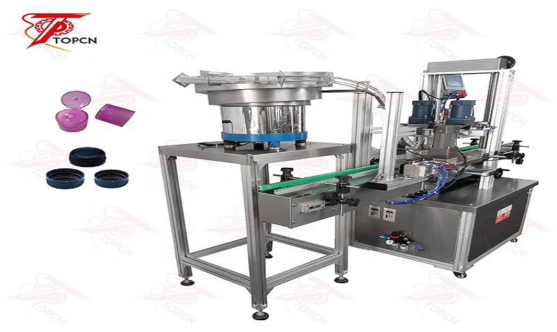 Automatic Screw Bottle Capping Machine With Cap Feeder