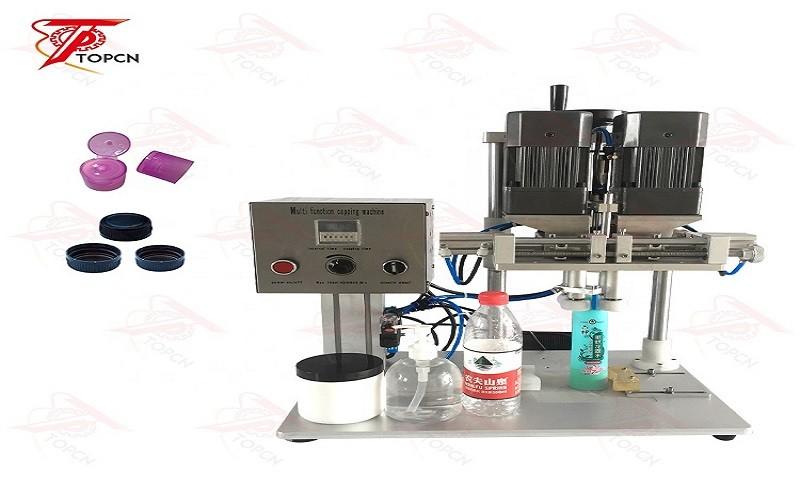 Semi Automatic Sprays Glass Bottle Desktop Screw Capping Machine