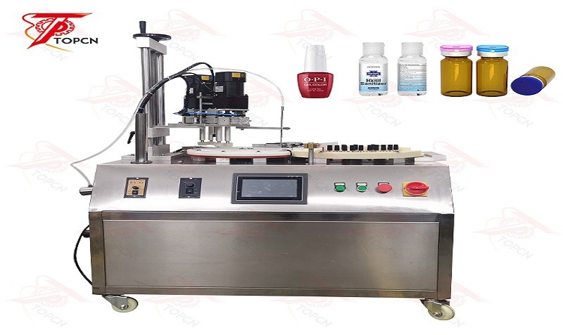 Pharmaceutical Oral Vial Injection Liquid Cosmetics Packing Machine Ceramic Pump Feeding Bottle Filling And Capping Machine