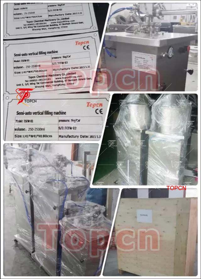 Semi automatic pneumatic bottle filler piston jar filling machines