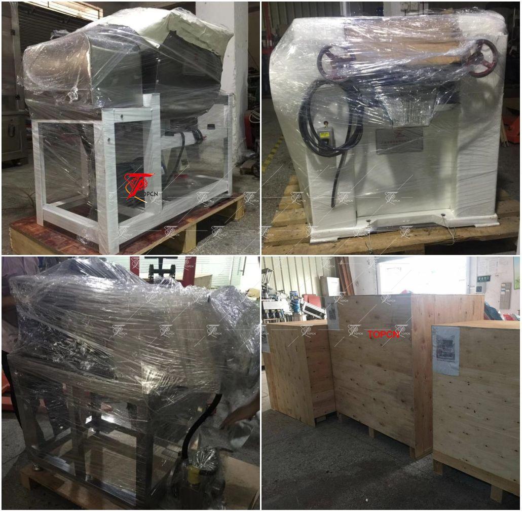 Indonesia Customer ordered mini hotel soap plodder making packaing machine