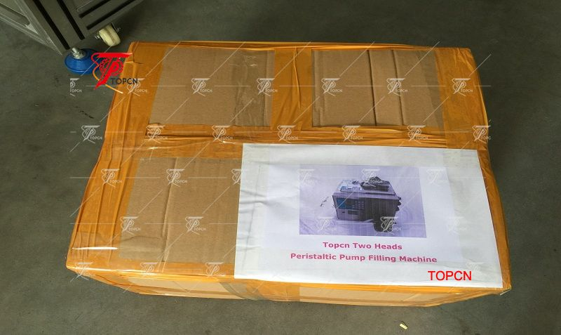 2 Heads Perfume Water Juice Essential Oil Peristaltic Pump Liquid Filling Machine 3-2500ml