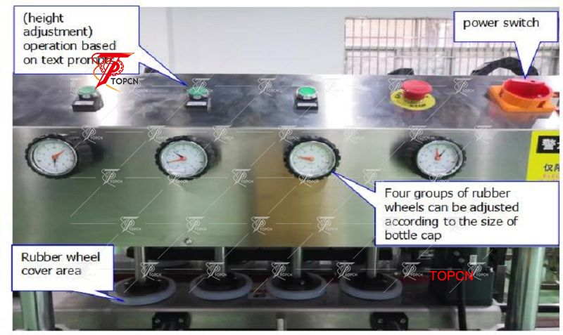 High Speed Inline Automatic Bottle Capping Machine with Conveyor